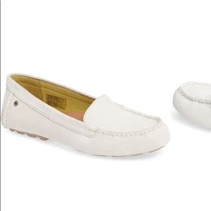 New White UGG Milana Moc Toe Flat